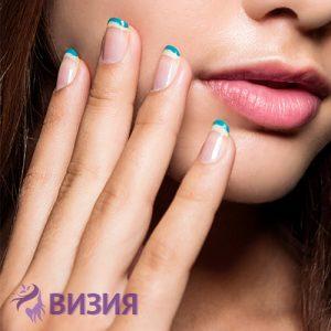 Маникюр, изсушаване и масаж на лице или гръб от студио за красота Визия Пловдив